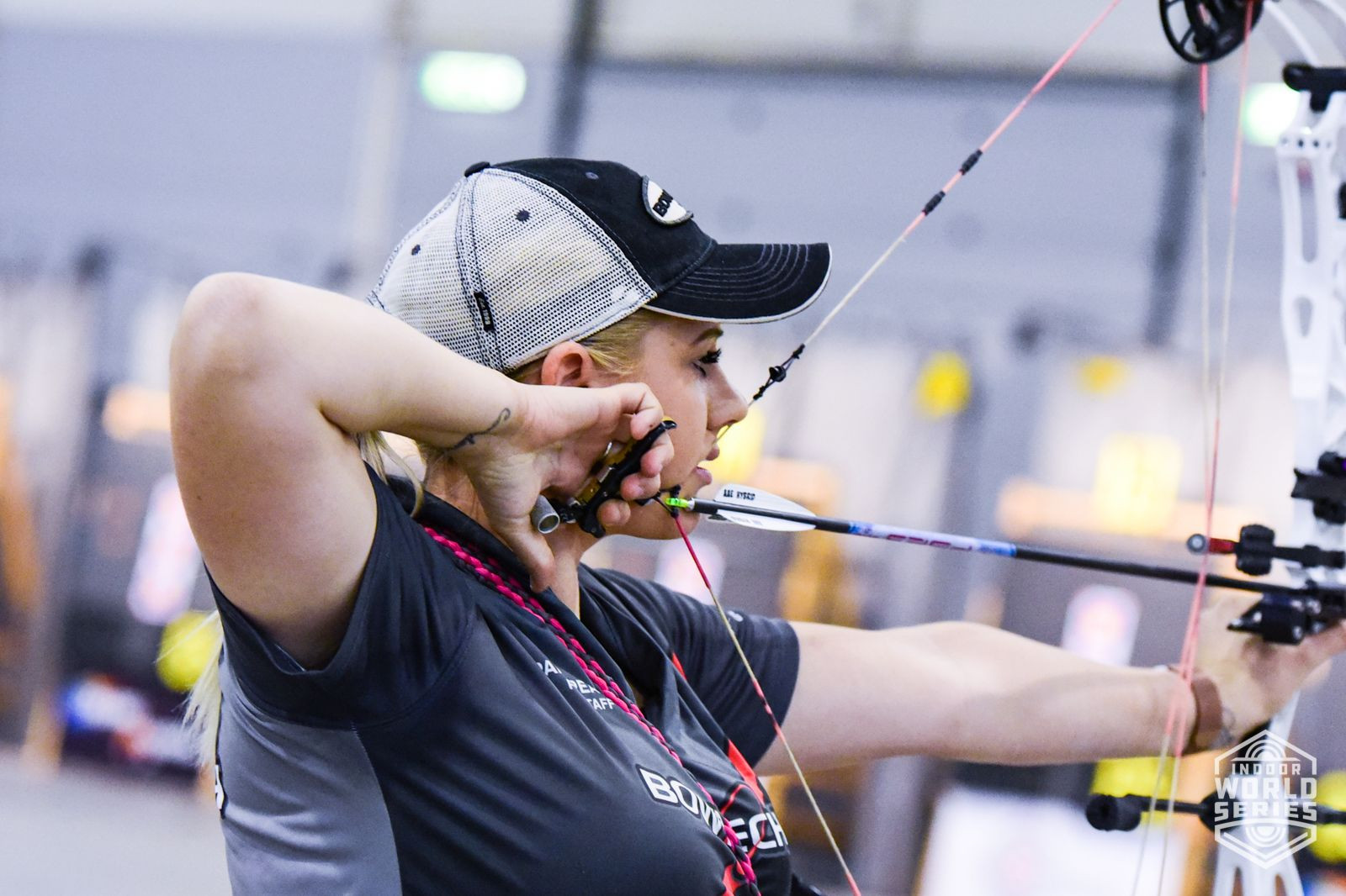World Championship medallist Paige Pearce of the United States will be among the favourites in the women's compound event at the Sydney Indoor Archery Festival currently underway ©World Archery