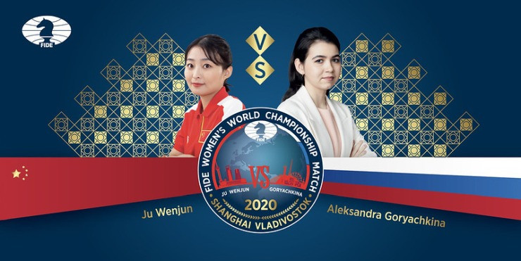 Russian challenger Aleksandra Goryachkina drew level in the Women's World Chess Championship match today ©FIDE