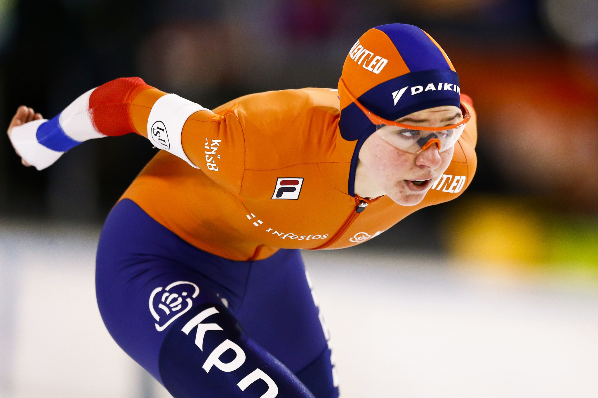 Esmee Visser of The Netherlands triumphed in the women's 3000m ©Getty Images