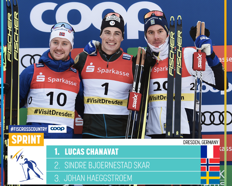 Chanavat was delighted with his World Cup victory ©FIS