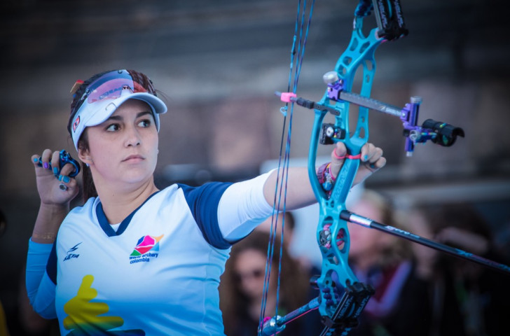 Colombia's two-time World Cup champion Sara Lopez is among the compound women's nominees in the 2015 World Archery Athlete of the Year awards ©Getty Images