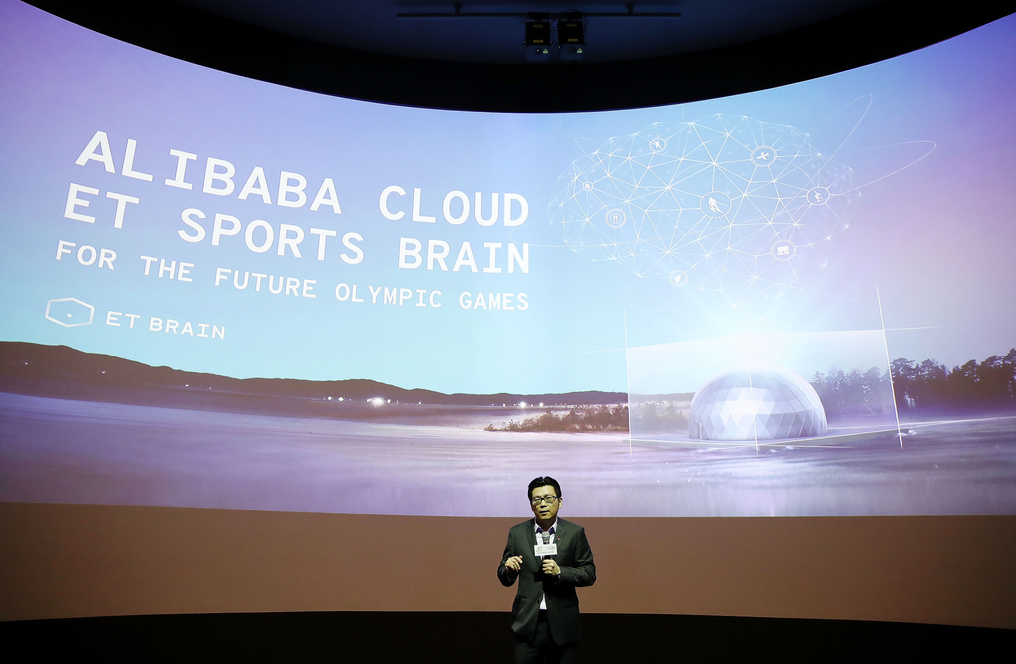 Alibaba's Chris Tung has predicted a new way of running the technical side of the Olympic Games ©Getty Images