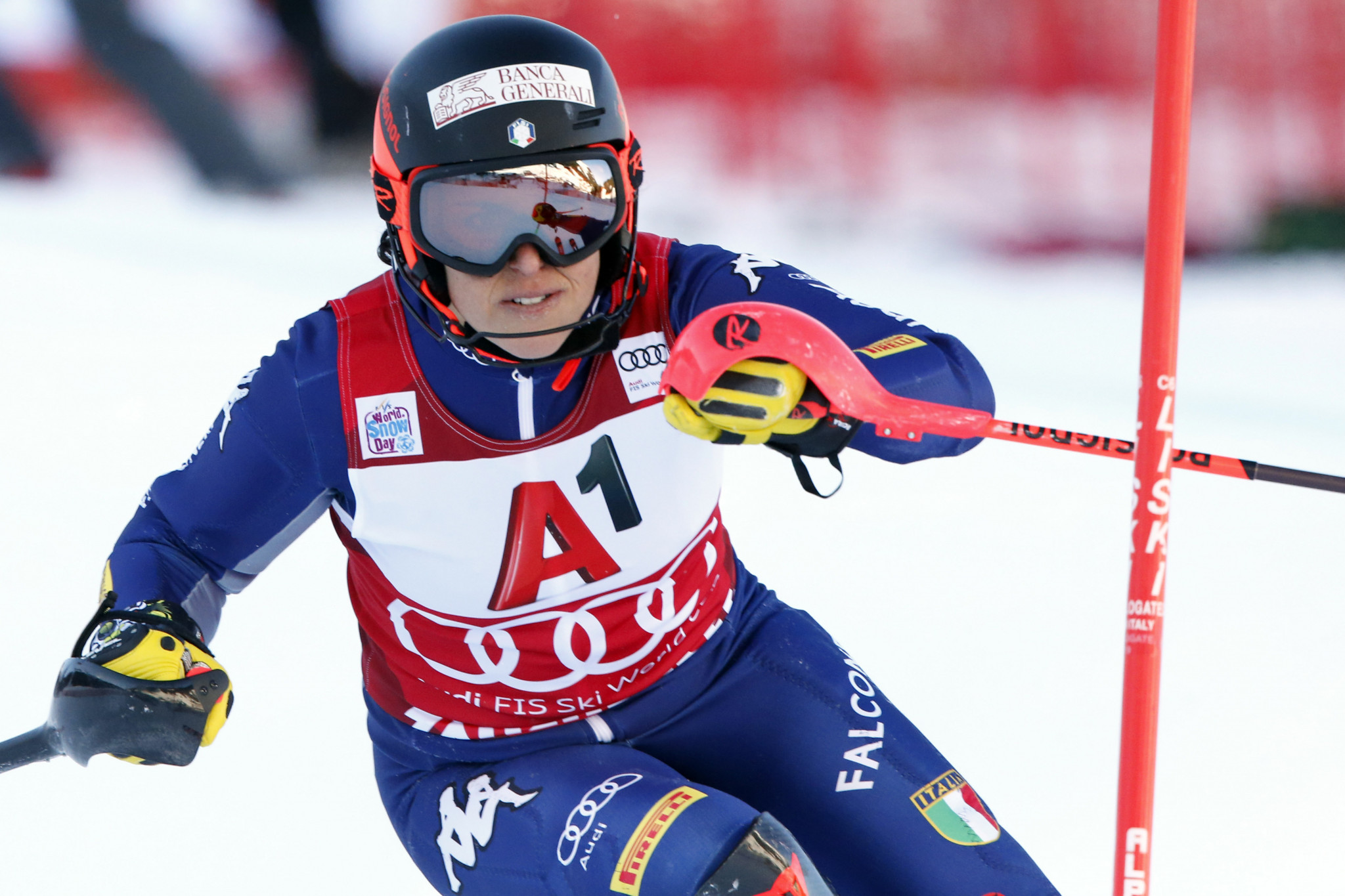 Brignone takes opening FIS World Cup Alpine combined title after Shiffrin falls