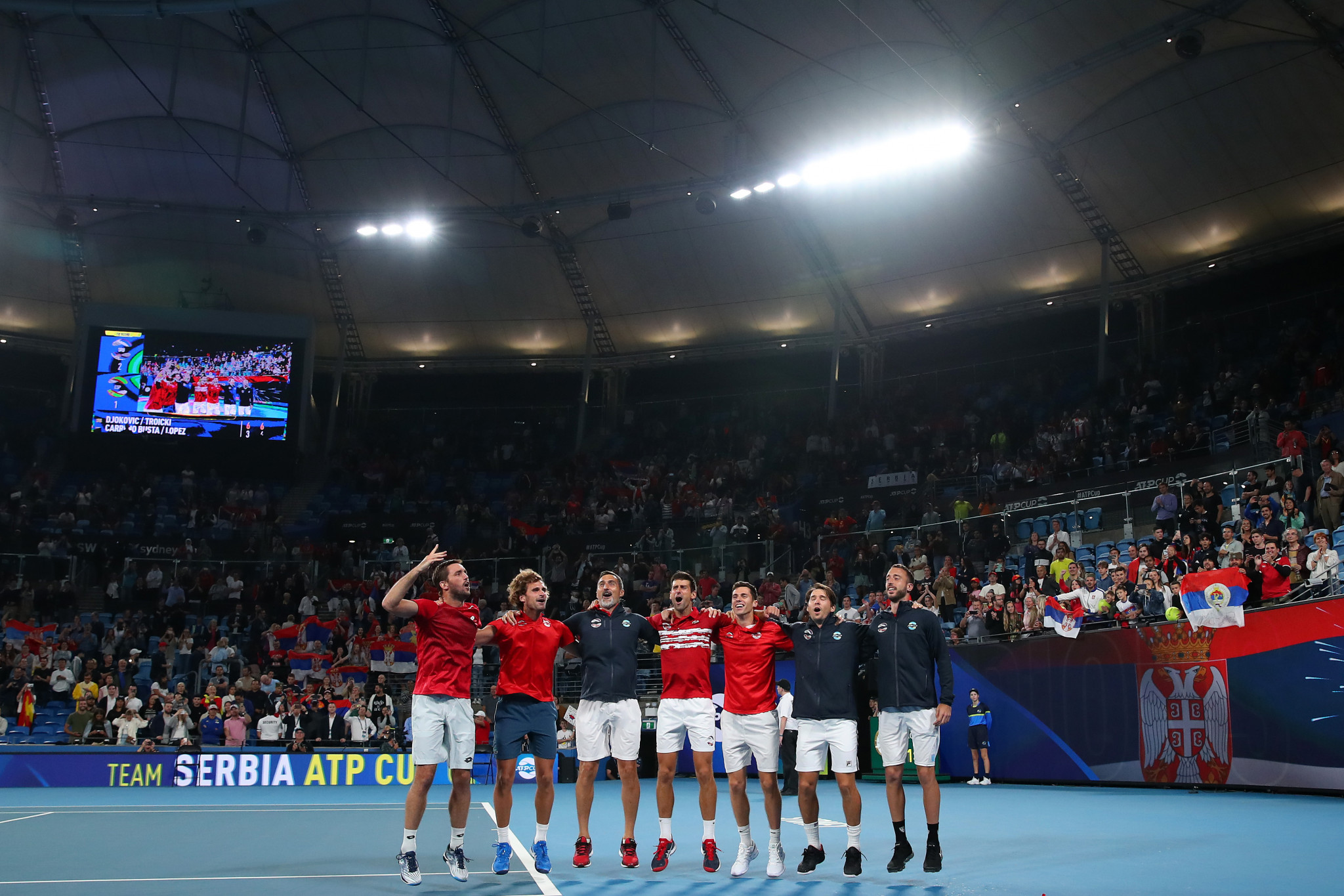 Serbia won the decisive doubles rubber to win the tournament ©Getty Images