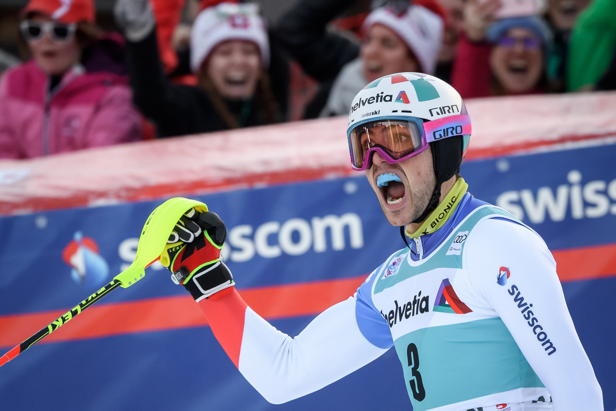 Yule earns second successive FIS Alpine Ski World Cup slalom win in Adelboden