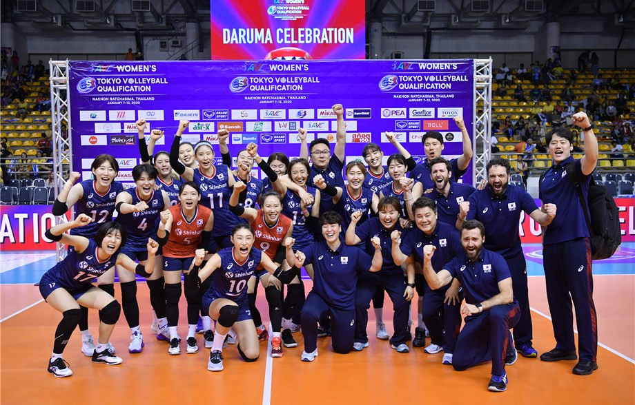 South Korea beat Thailand in straight sets to book their Olympic place ©FIVB