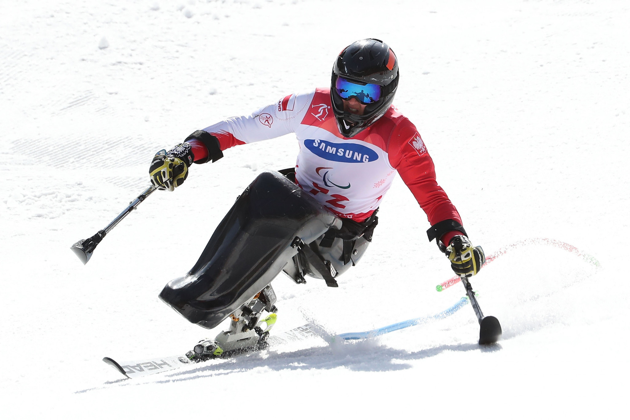 Igor Sikorski of Poland triumphed in the men's sitting giant slalom at the World Para Alpine Skiing World Cup ©Getty Images