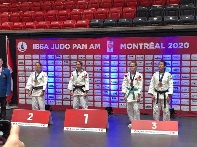 Canada's Priscilla Gagné topped the women's under-52 kilograms podium ©Burnaby Judo Club/Twitter