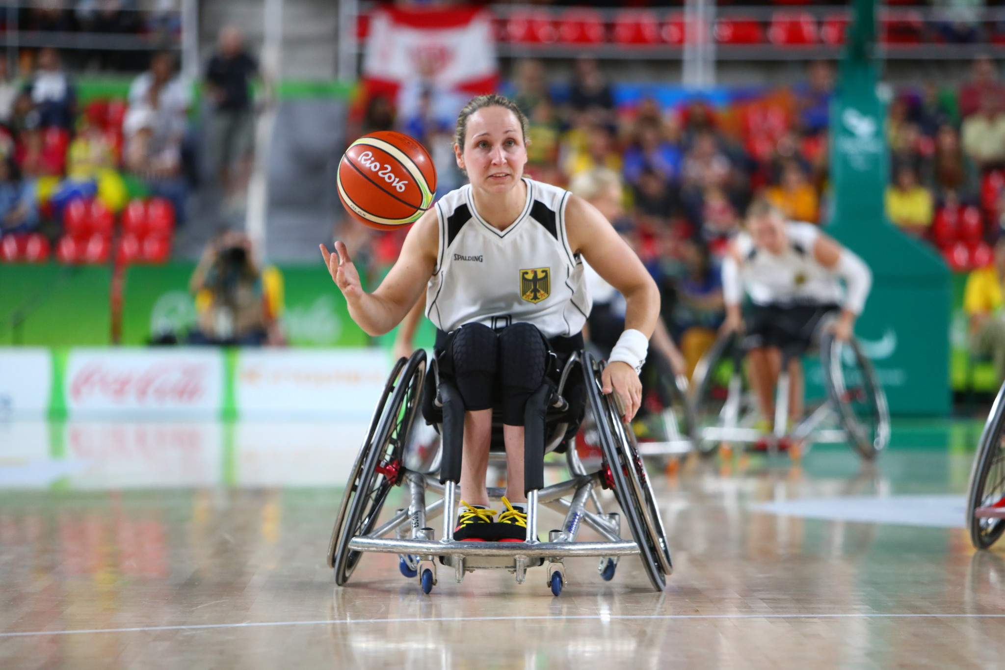 Annika Zeyen won Paralympic gold in wheelchair basketball at London 2012 and has also competed in athletics and cycling ©Getty Images