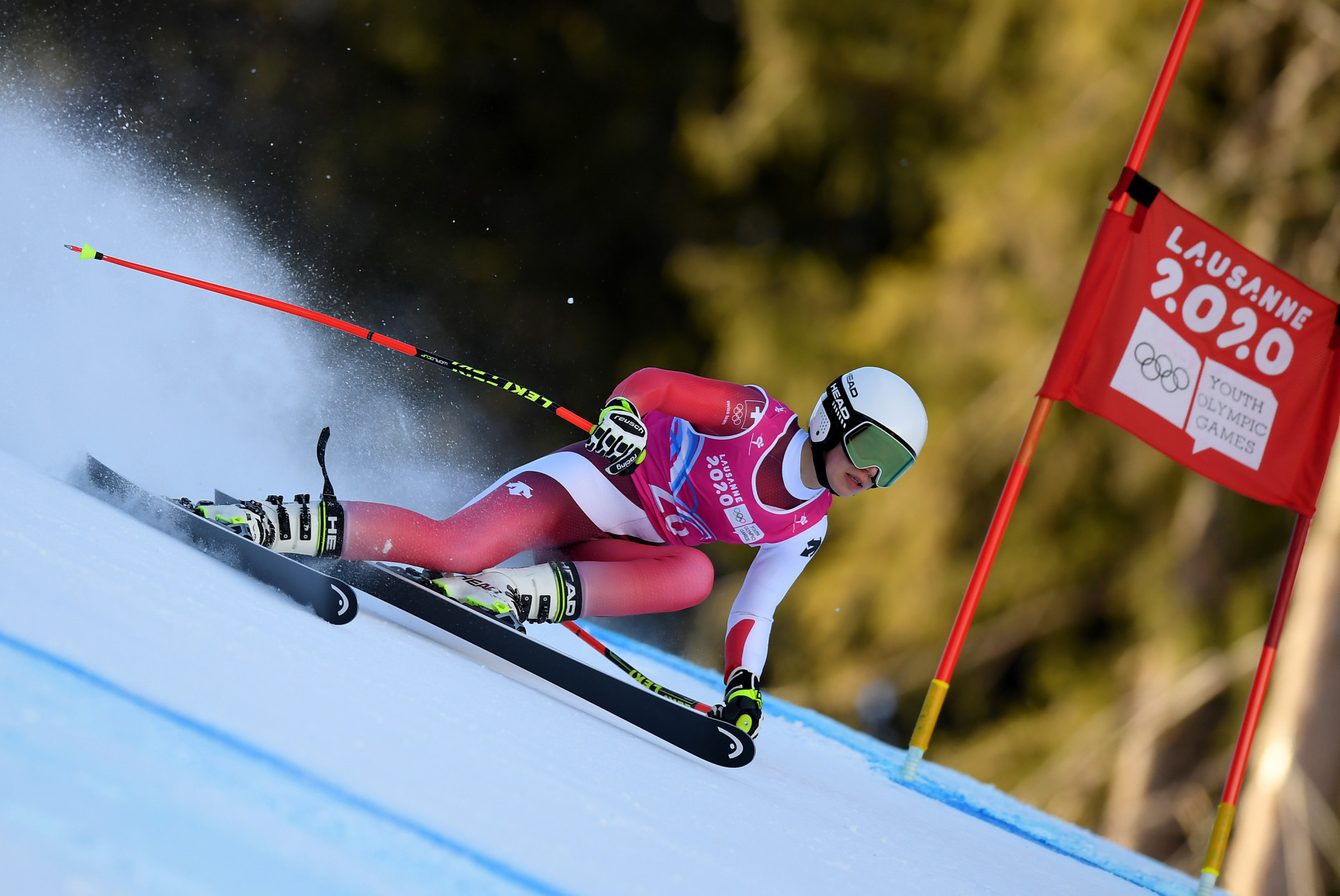 Amelie Klopfenstein of Switzerland won the women's giant slalom gold medal ©Getty Images