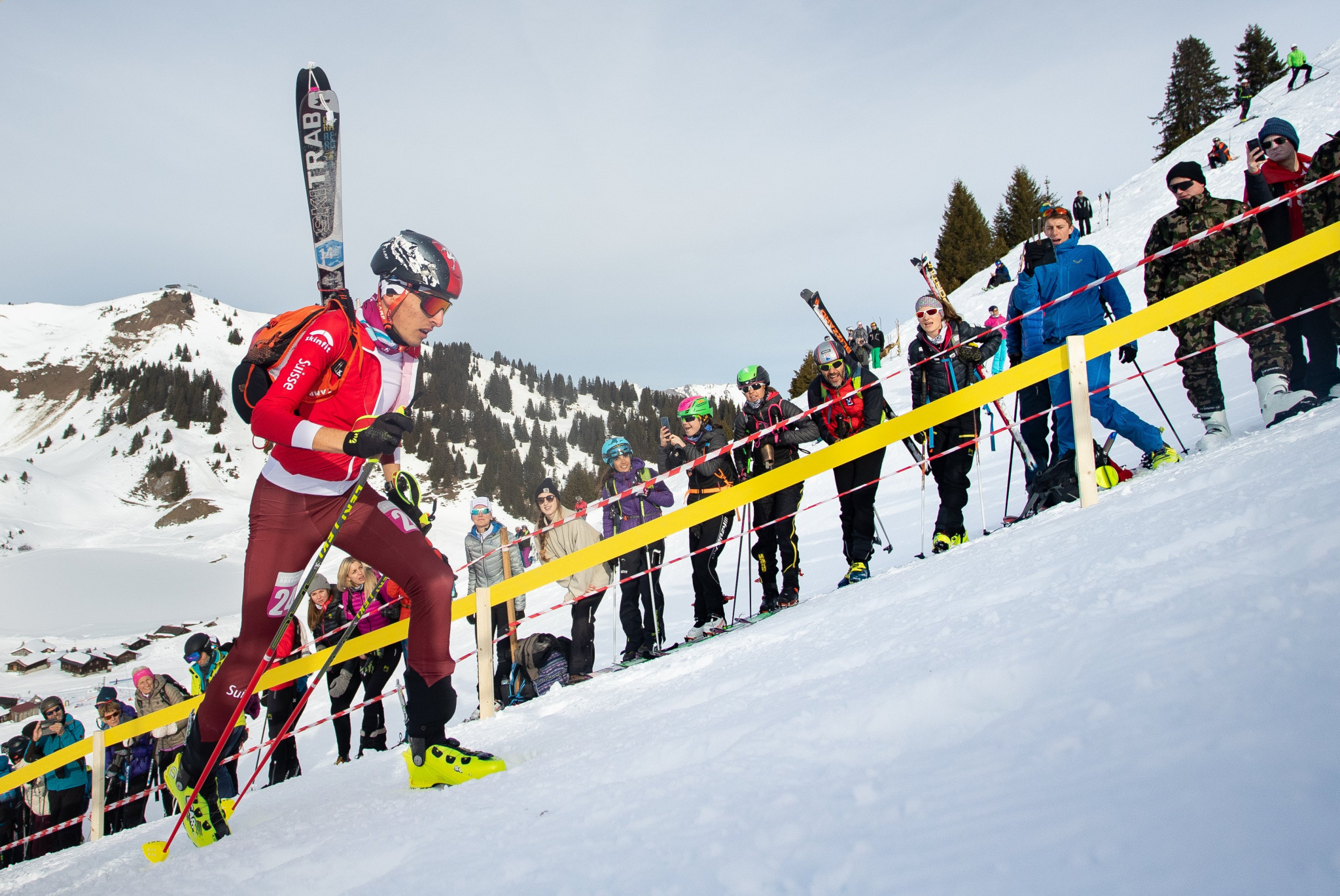 Ski moutaineering competition resumed at the Villars Winter Park ©Lausanne 2020