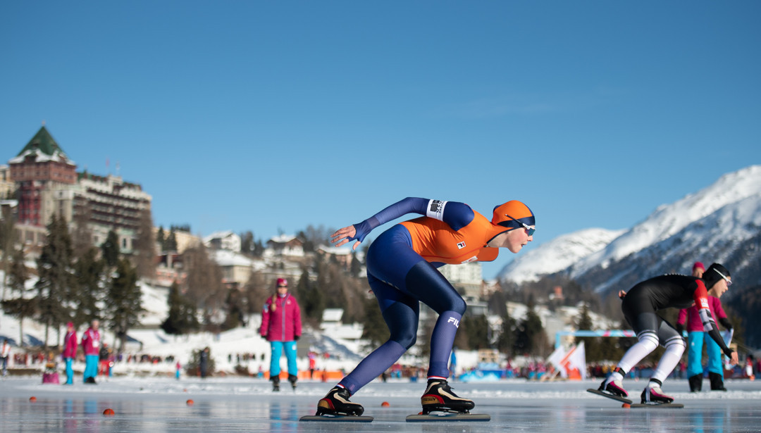 Myrthe de Boer triumphed in the women's 1,500m ©OISphotos