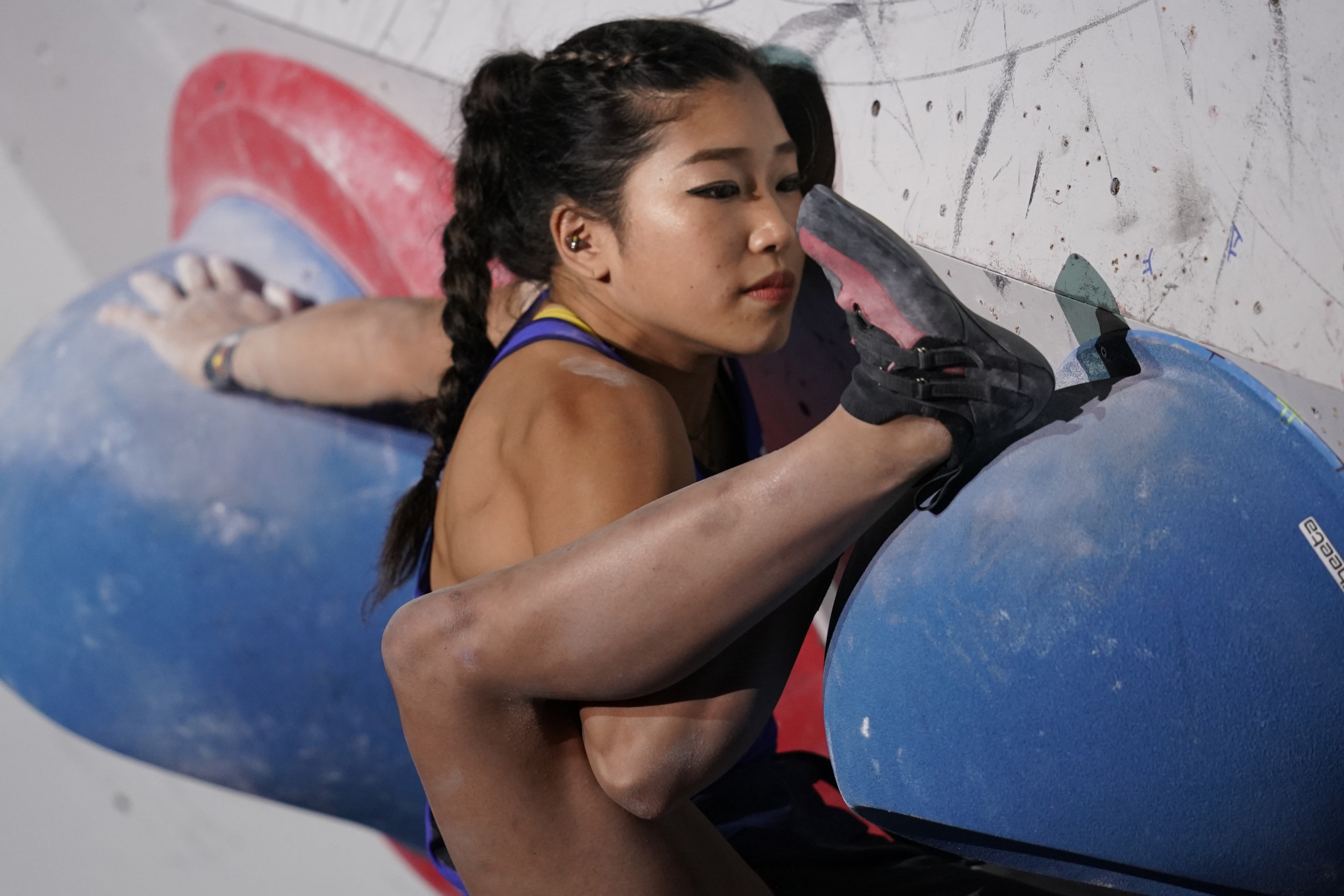 Japan's 2018 World Cup bouldering champion has played down her chances at Tokyo 2020 because of her lack of experience in speed climbing - but we shall see...©Getty Images