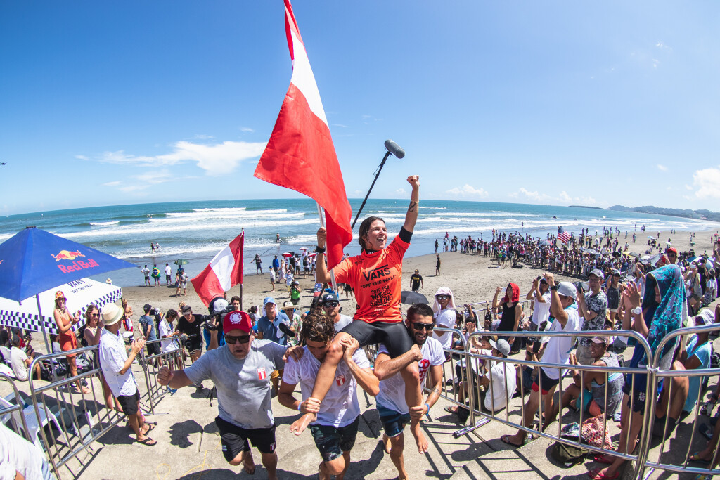 Peru's Sofía Mulánovich claimed victory at the 2019 World Surfing Games in Japanese city Miyazaki ©ISA/Pablo Jimenez