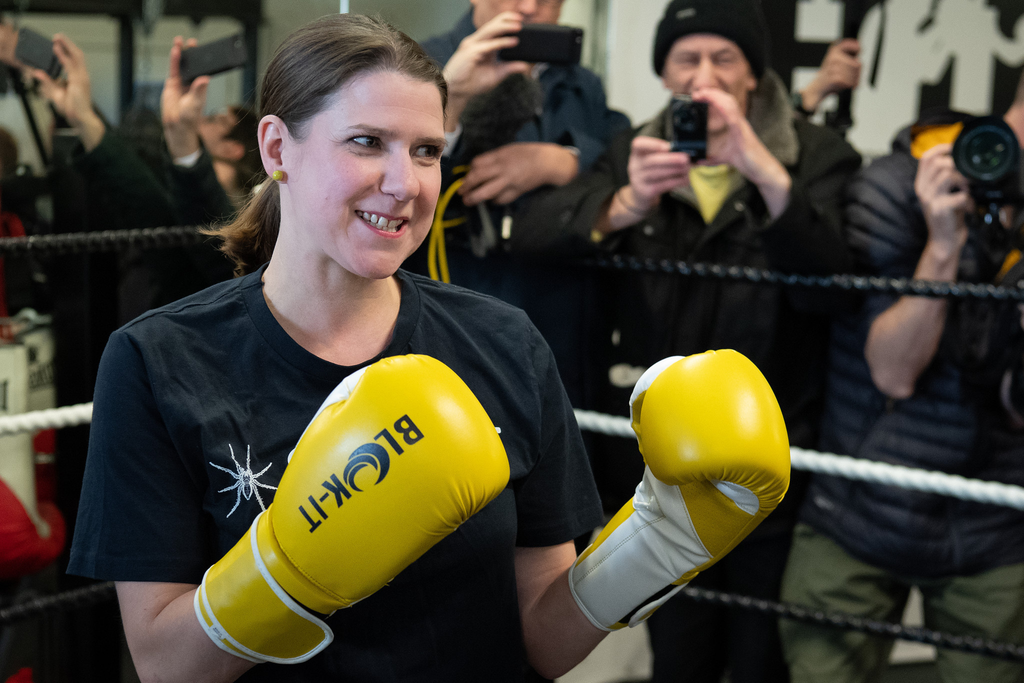 Even Liberal Democrat leader Jo Swinson entered the ring last month, showing how mainstream boxing has become ©Getty Images