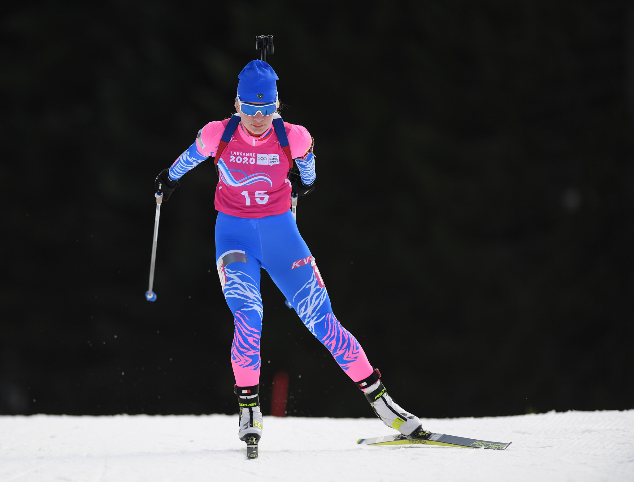 Mokhova clinches second biathlon gold with sprint triumph at Lausanne 2020
