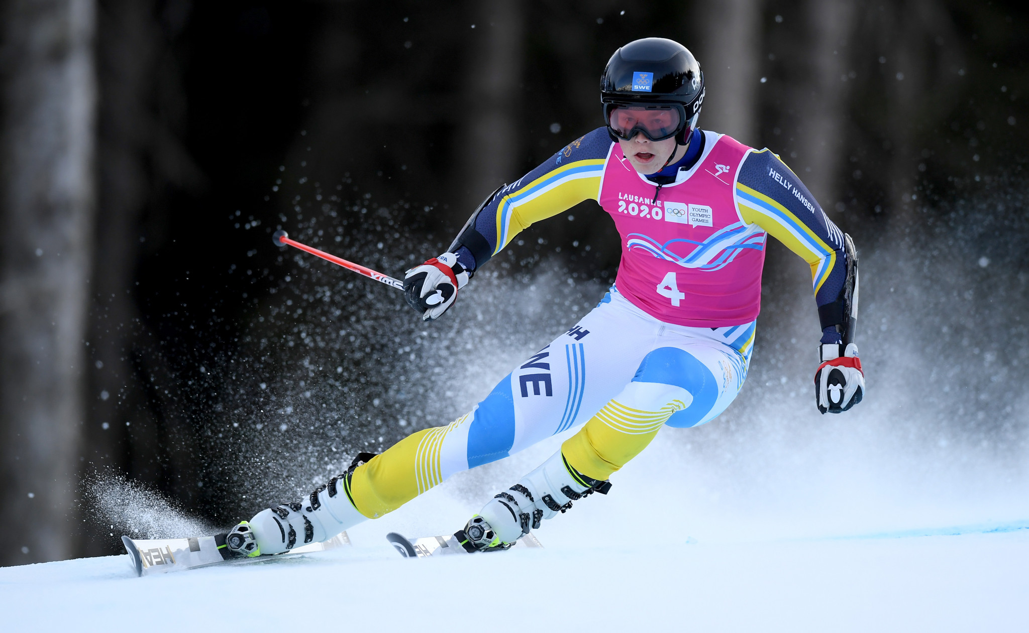 Swedish slalom skiers secure double gold at Lausanne 2020