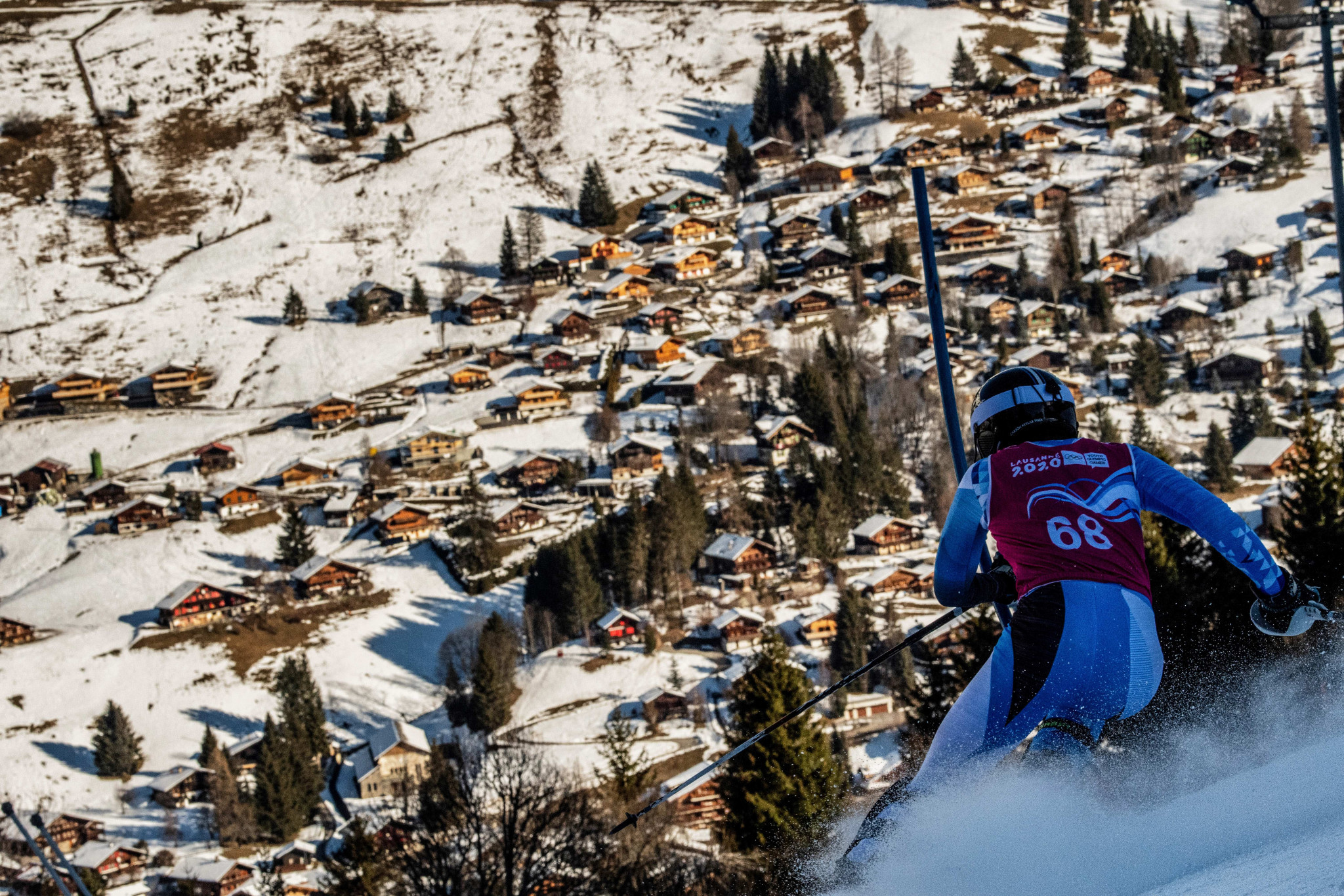 The course was shortened before the Games due to a lack of snow ©Getty Images