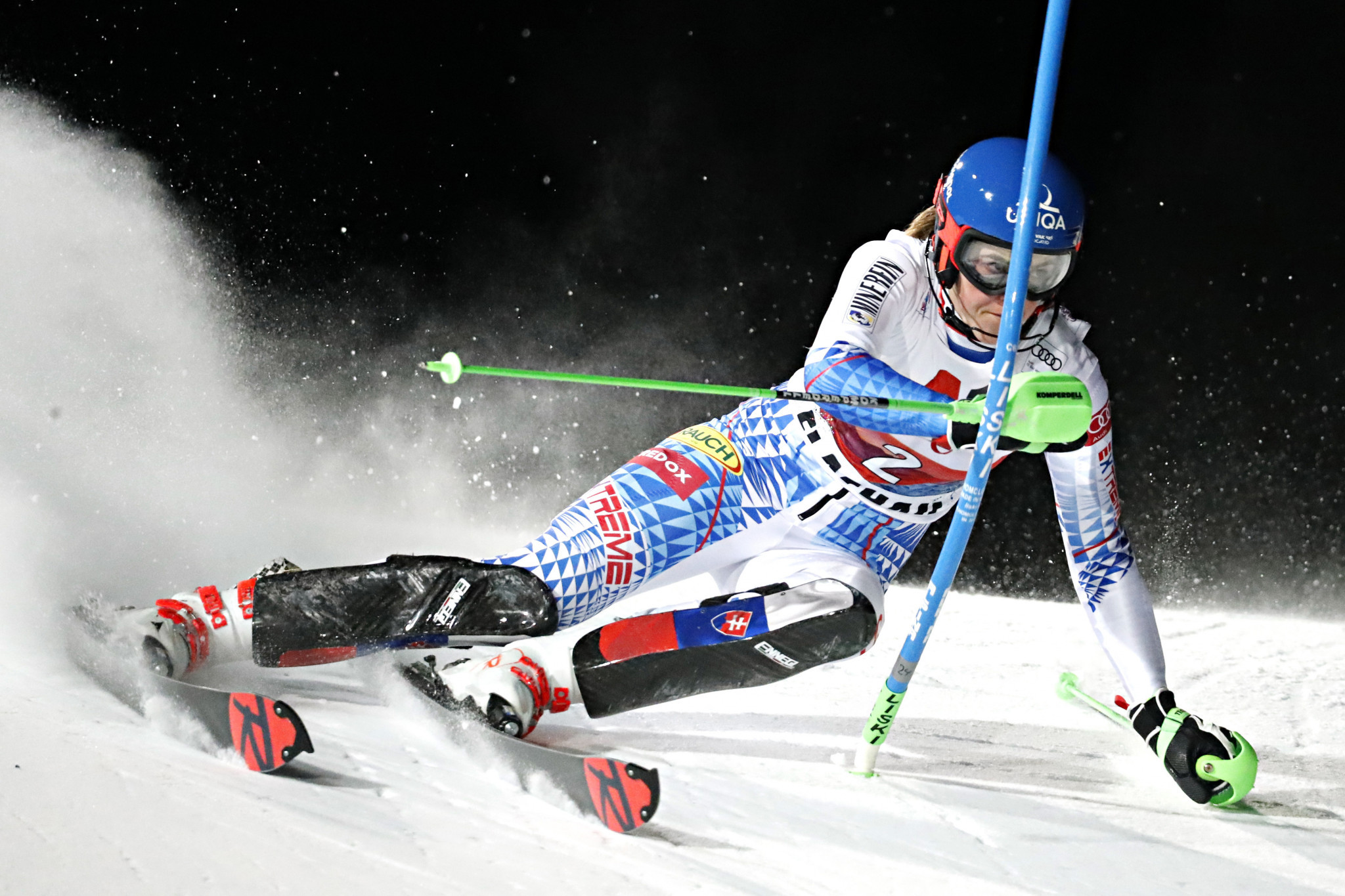 Slovakia's Petra Vlhová was in fine form at the FIS Alpine Skiing World Cup in Flachau ©Getty Images