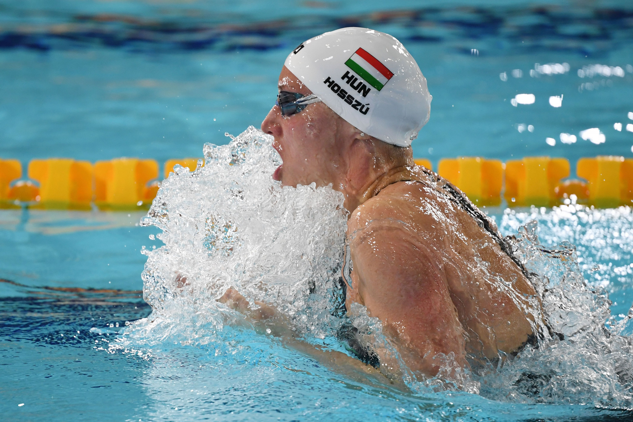 Katinka Hosszú of Hungary won two golds each on the last day of the FINA Champions Swim Series ©Getty Images