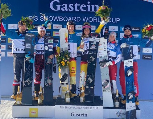 Germany triumph in team event at FIS Snowboard World Cup in Bad Gastein