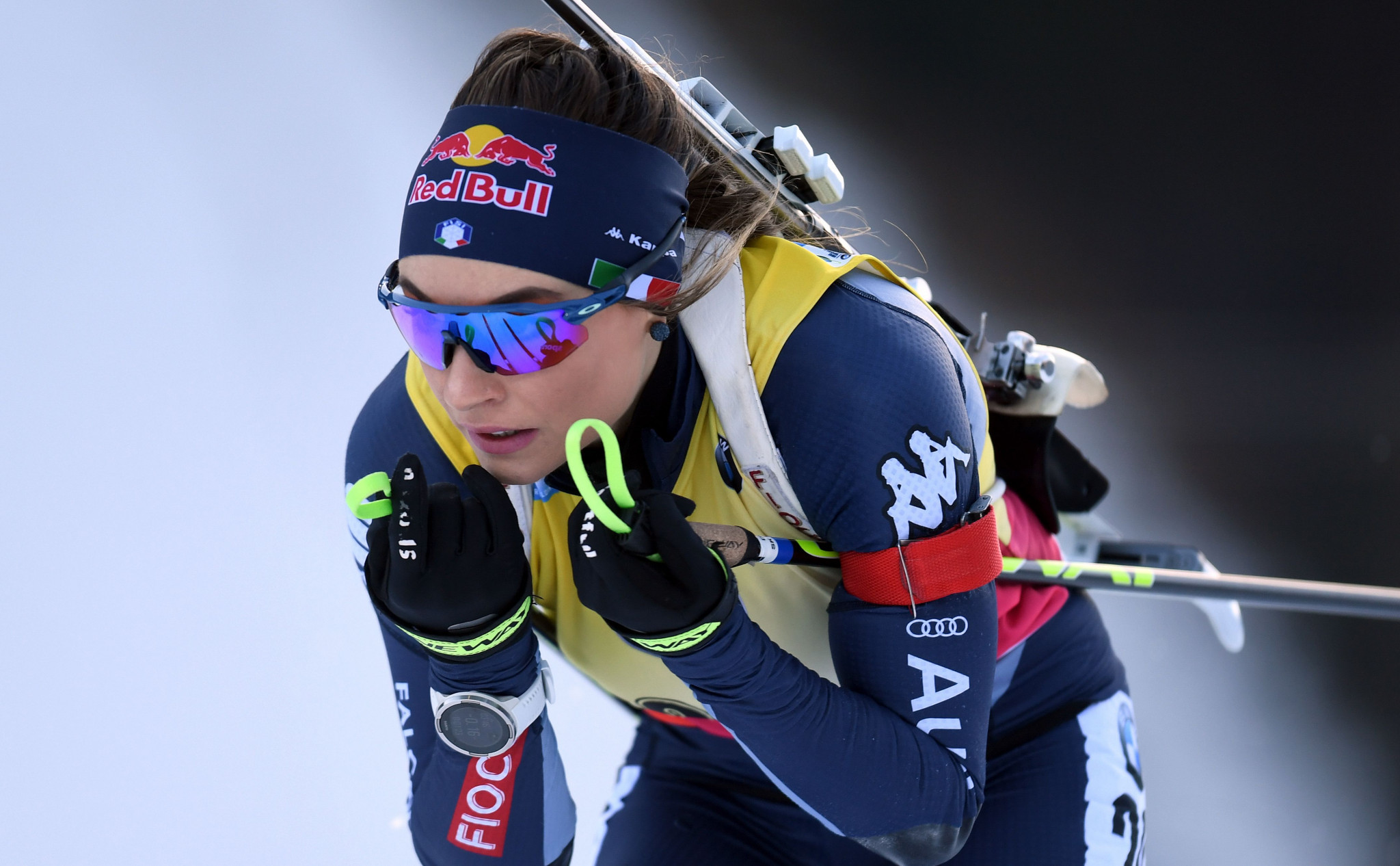 Dorothea Wierer of Italy moved down to second in the women's IBU World Cup standings ©Getty Images