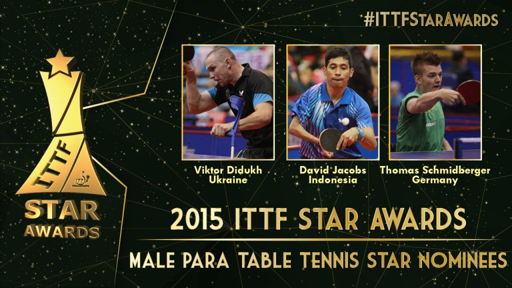 A total of six nominees have been named for the Male and Female Para Table Tennis Stars ©ITTF