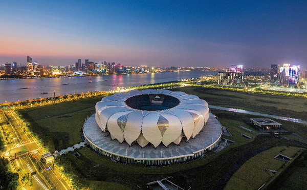The Main Stadium in the Hangzhou Olympic and International Expo Centre will be used for the FIFA Club World Cup in 2021 and the Asian Games in 2022 ©Hangzhou 2022