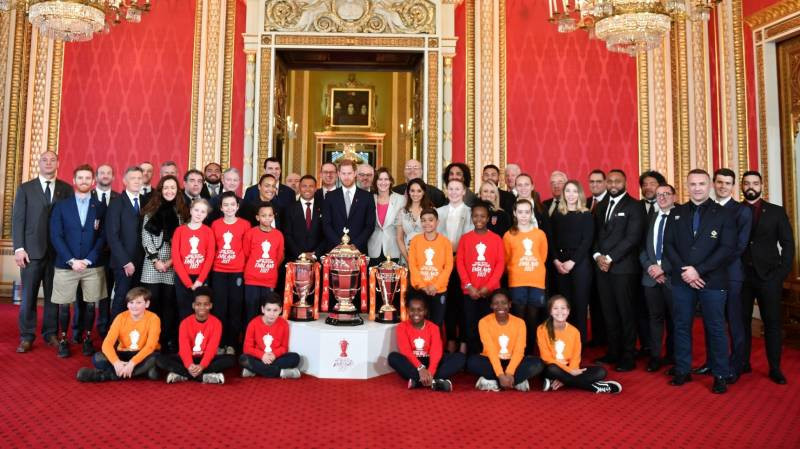 The three draws for the 2021 Rugby League World Cup took place at Buckingham Palace ©RLWC 2021