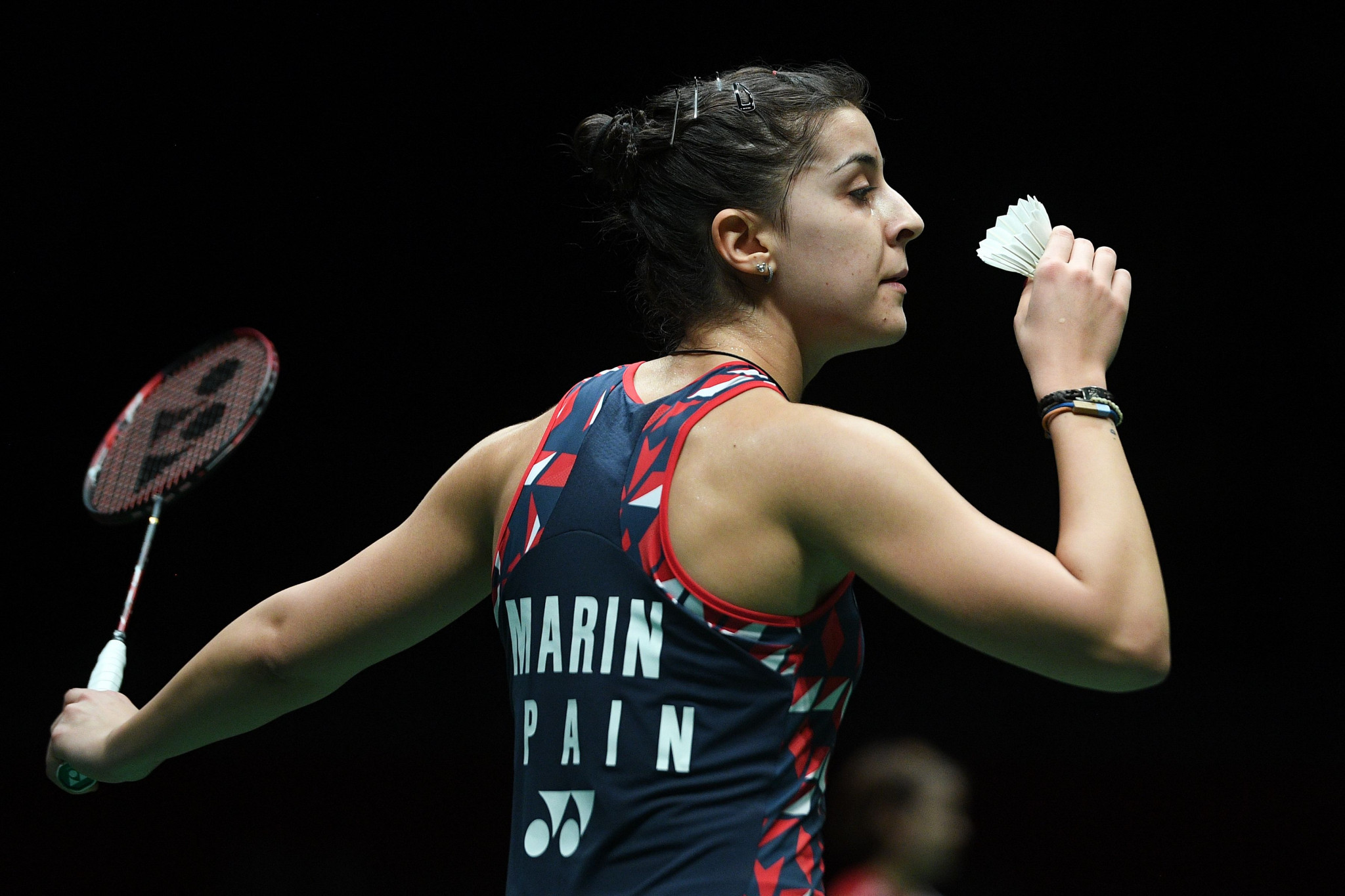 Marin wins heavyweight tussle at BWF Indonesia Masters