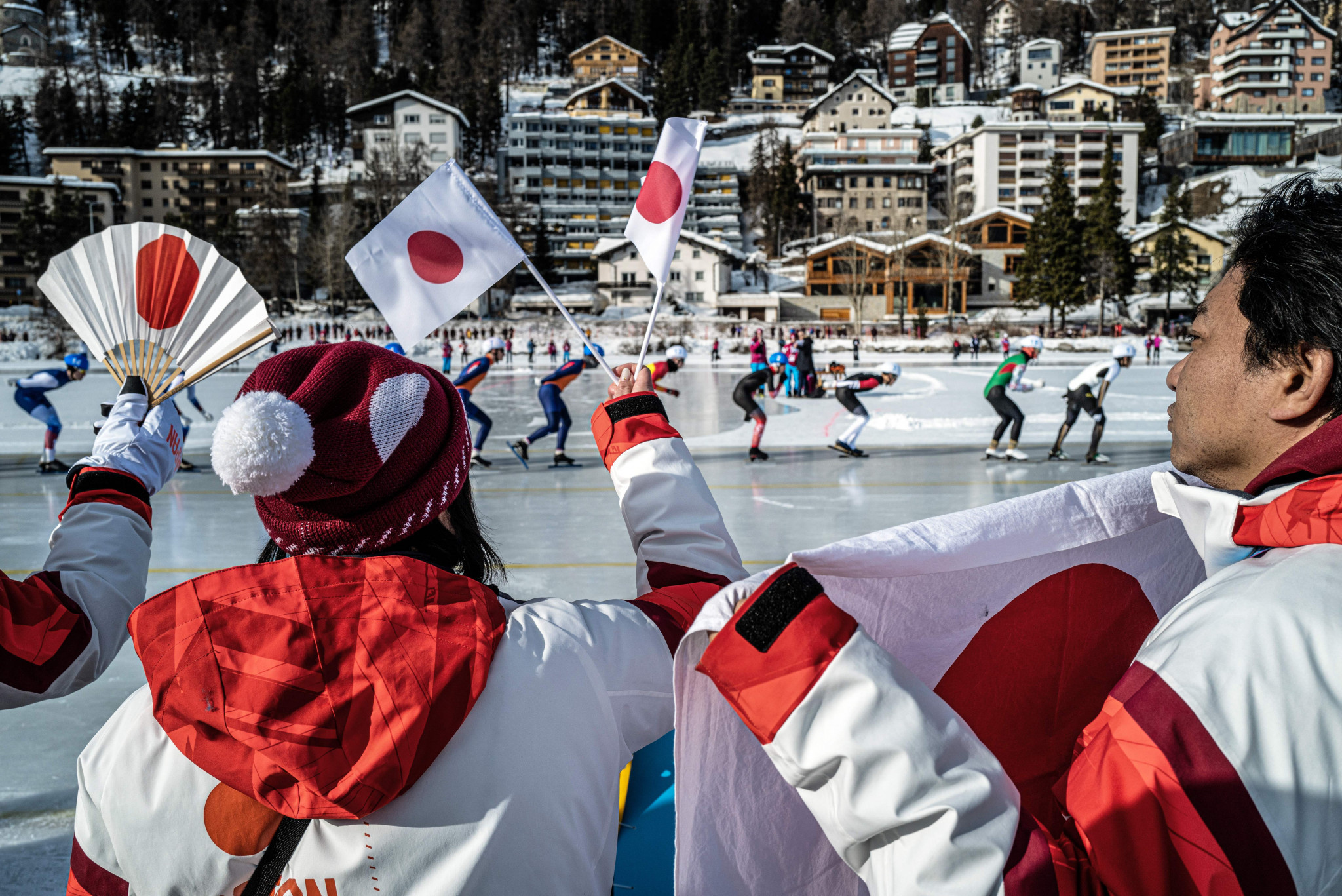 There was a strong Japanese contingent out in force in St Moritz ©Getty Images