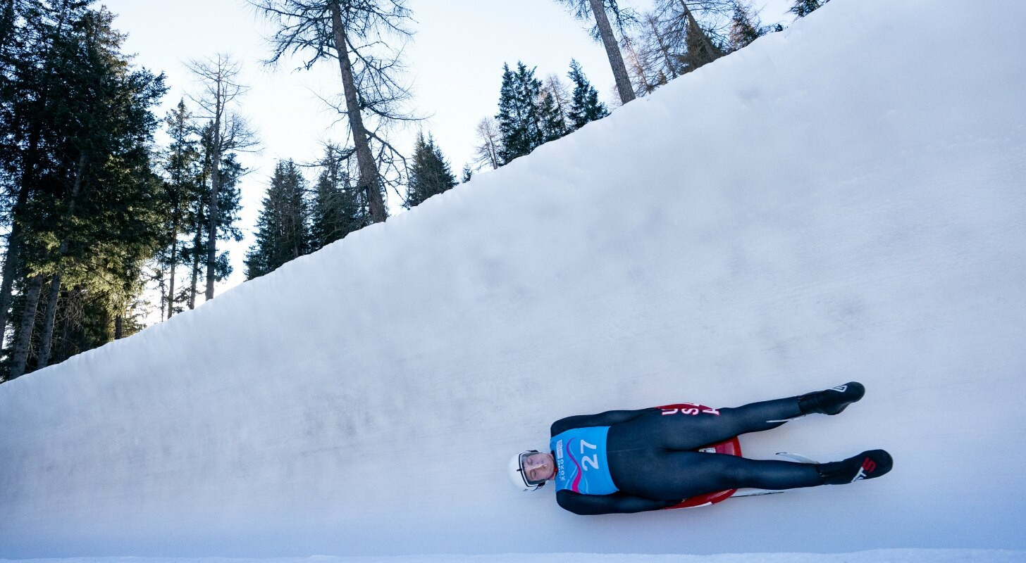 Luge training continued today, prior to the start of competition tomorrow ©OISphoto