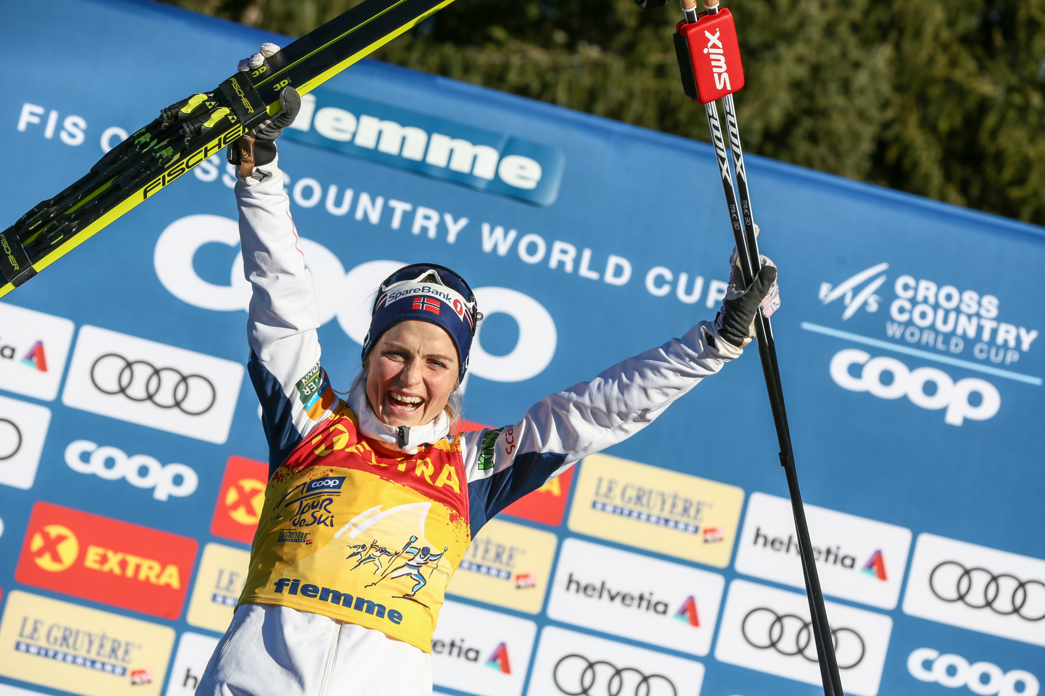 The pride of Norway, Therese Johaug has a significant lead in the women's standings ©Getty Images