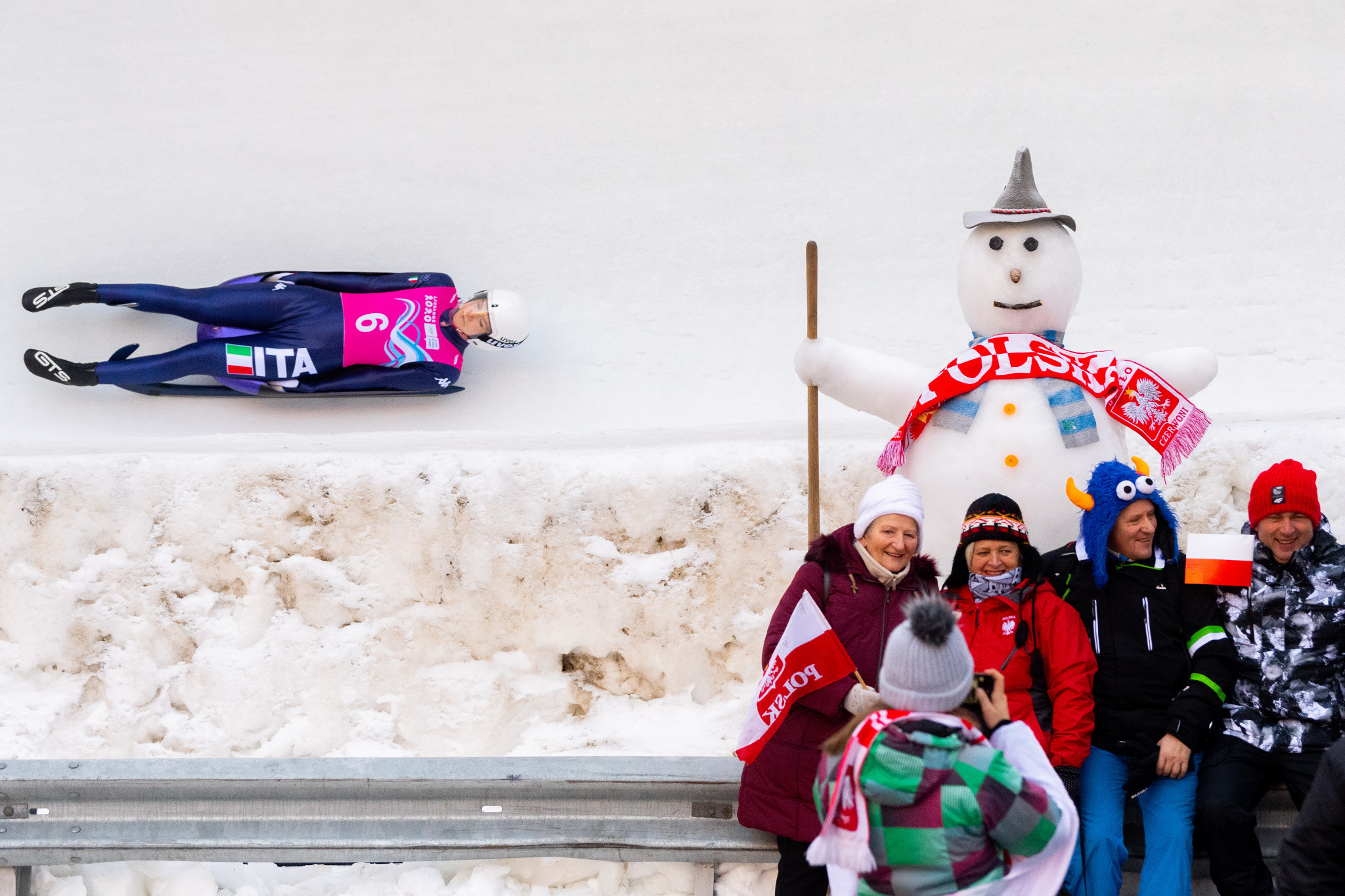 Luge competition began after several days of training in St Moritz ©Getty Images