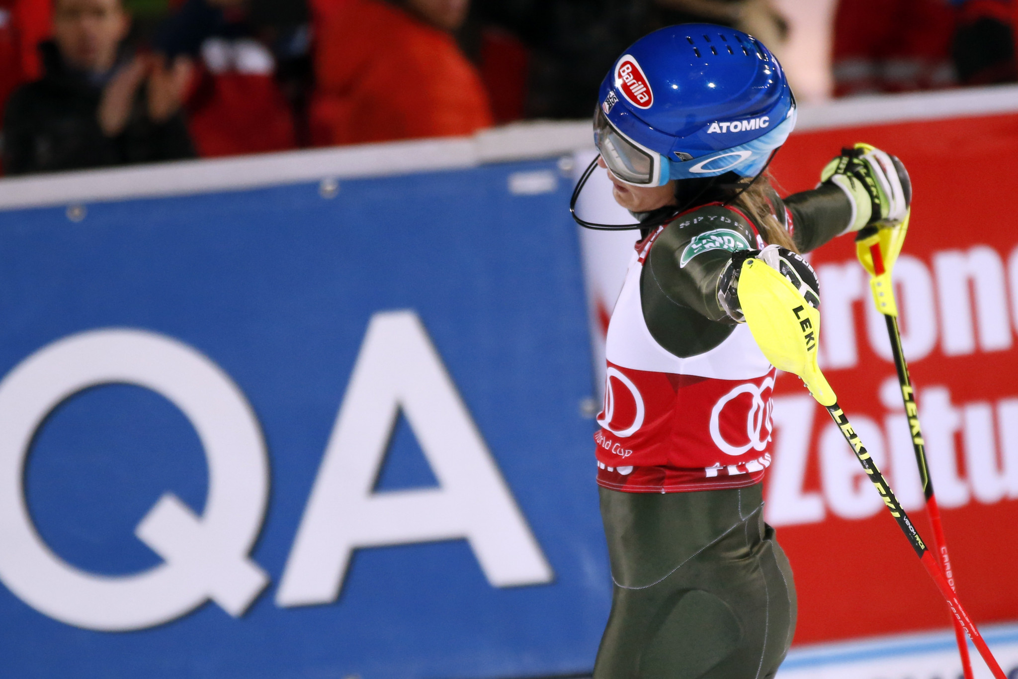 Mikaela Shiffrin will be desperate to improve on her third place in Austria ©Getty Images