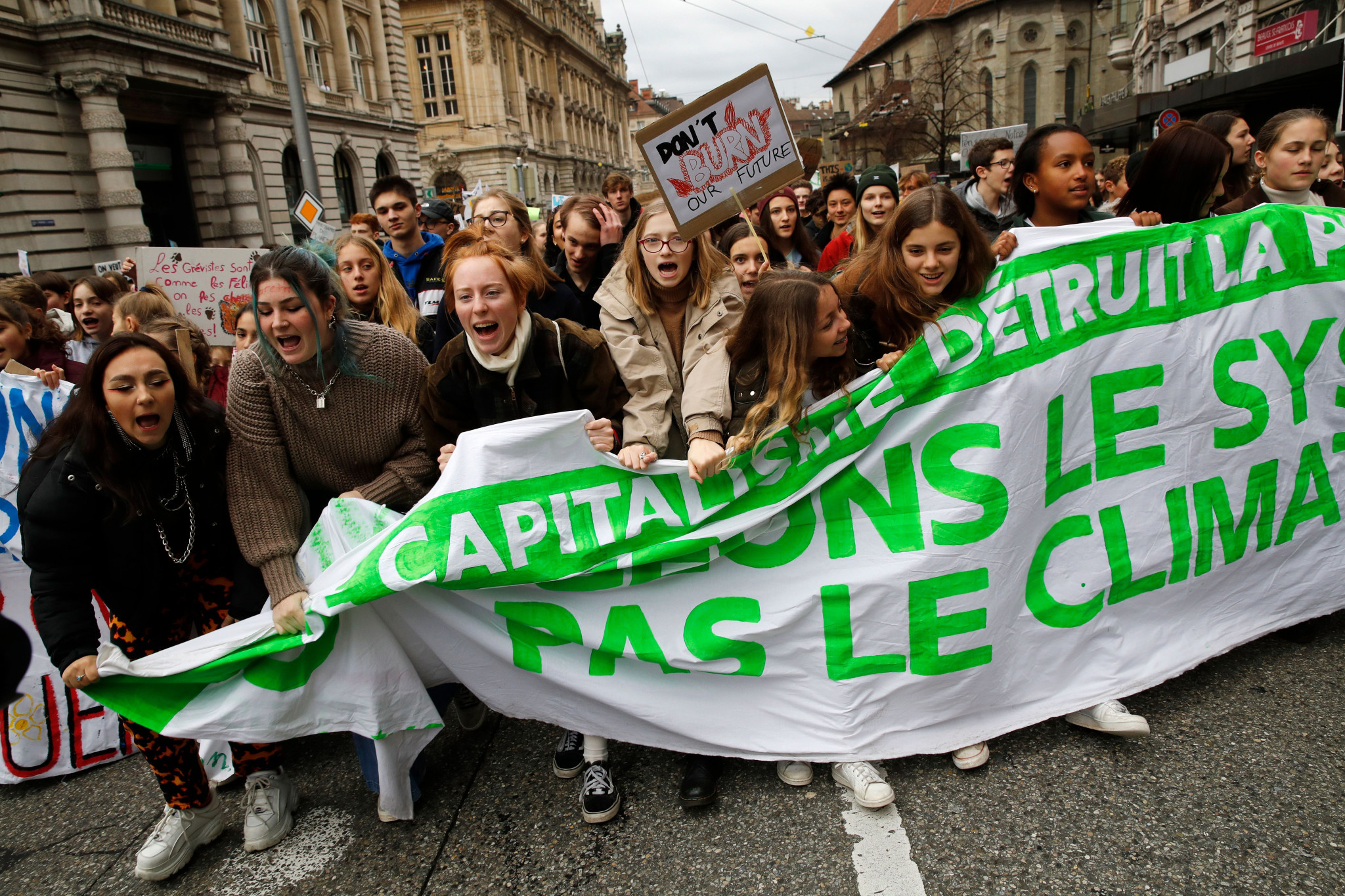 """The demonstration continued the worldwide """"Fridays for Future"""" protests started by Greta Thunberg ©Getty Images"""