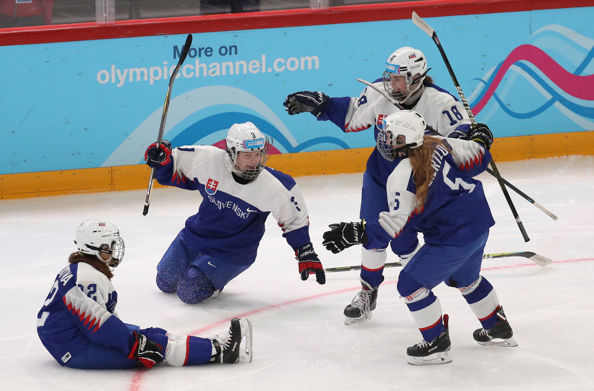 Slovakia and Sweden clashed in the first women's match ©Getty Images