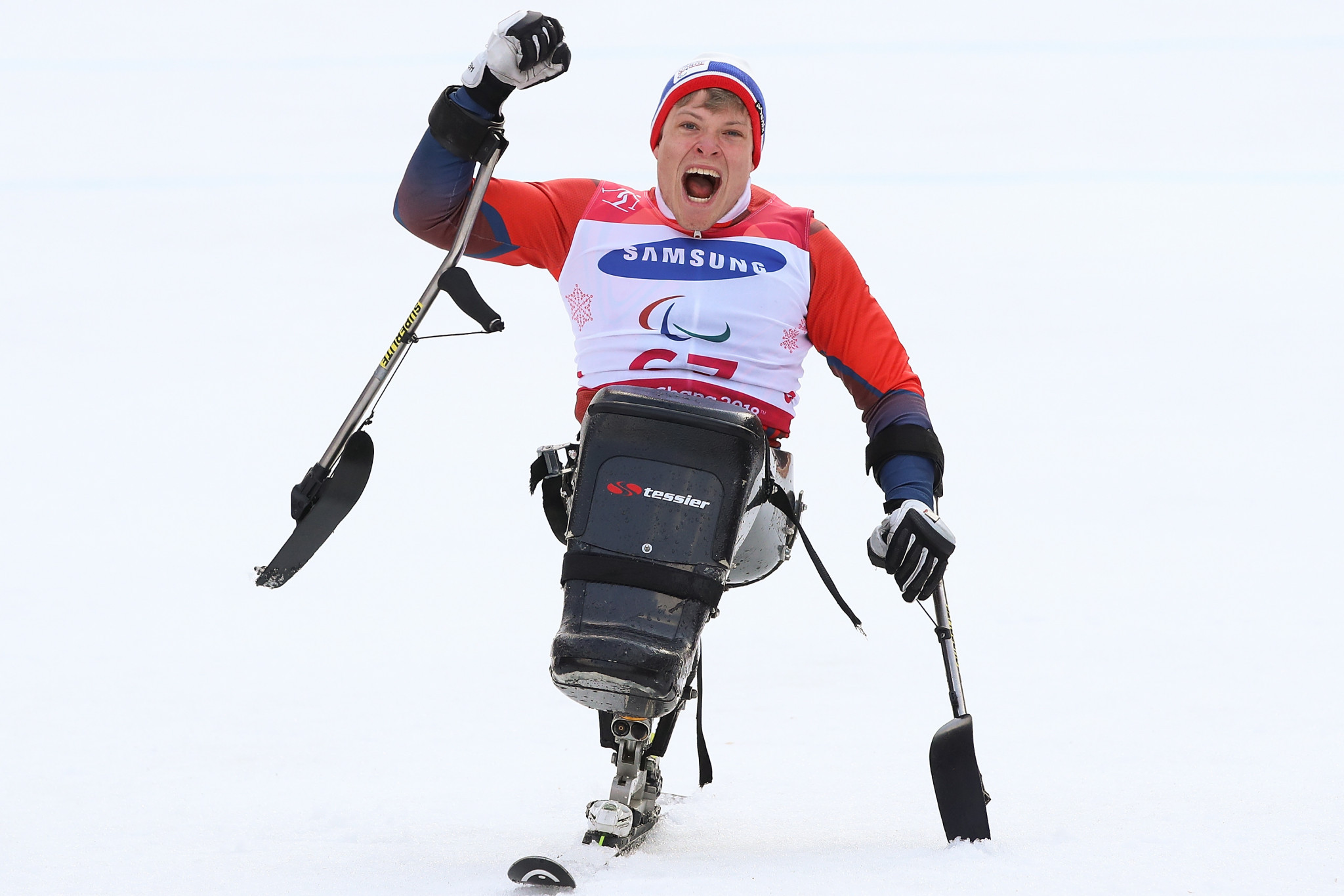 Norway's Jesper Pedersen matched the feat of three consecutive victories achieved by Italy's Giacomo Bertagnolli at the World Para Skiiing World Cup in Prato Nevoso ©Getty Images