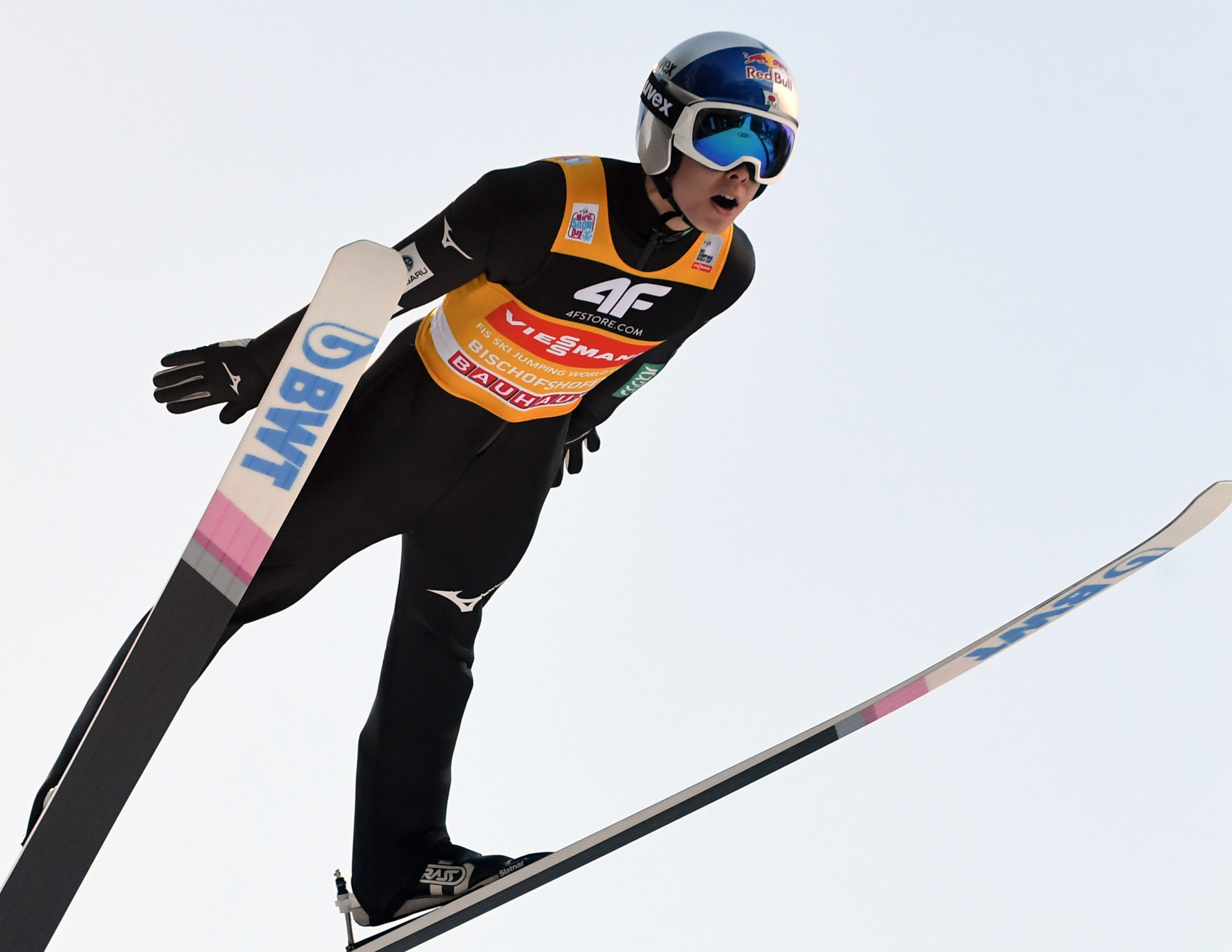 Defending FIS Ski Jumping World Cup champion Ryoyu Kobayashi topped qualifying at Titisee-Neustadt ©Getty Images