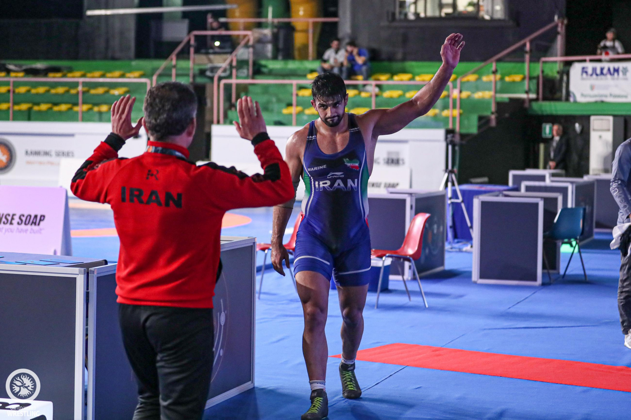 Iran's mighty mountain Mohammadian unbeatable at UWW Ranking Series in Rome