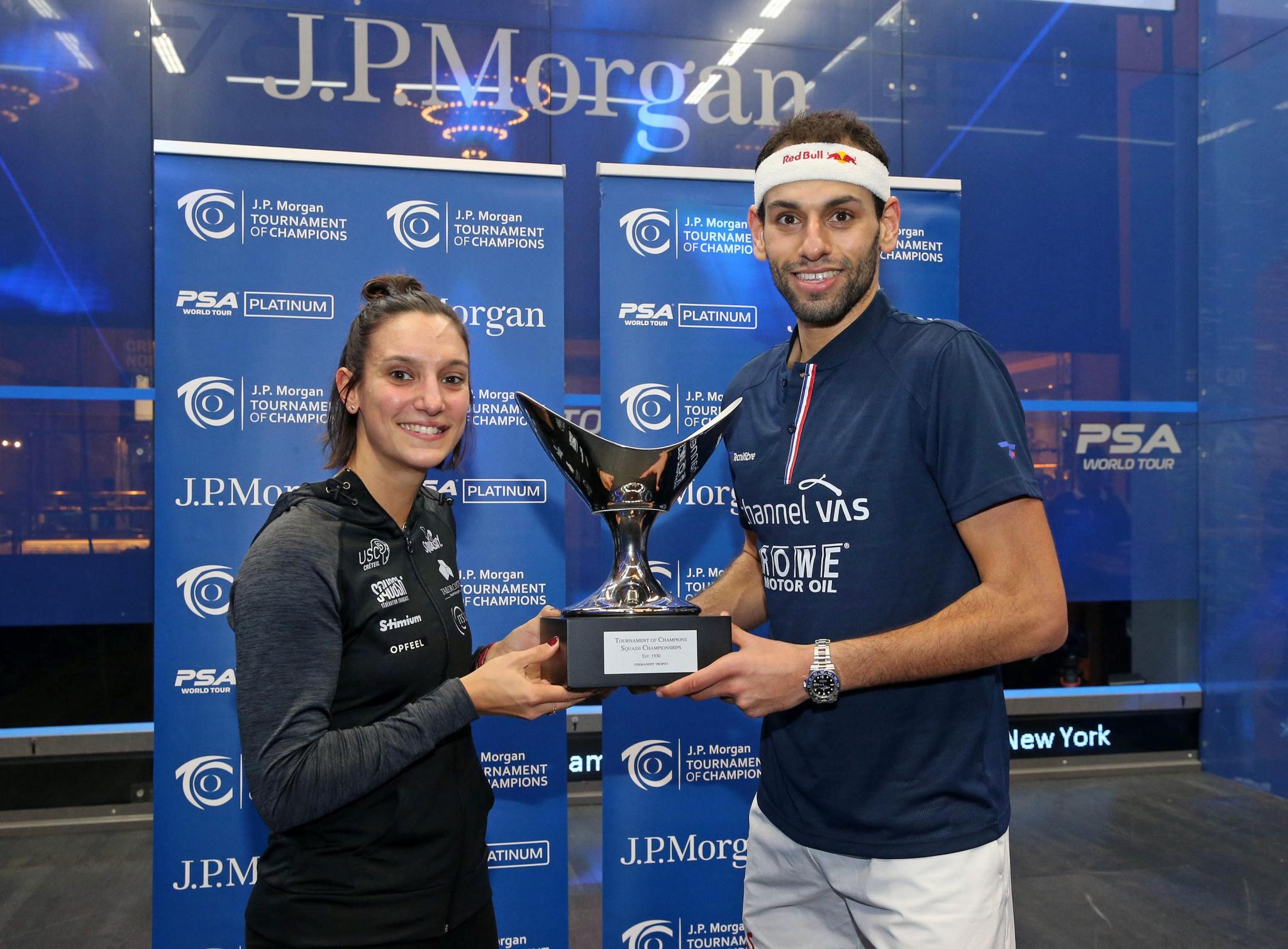 ElShorbagy and Serme capture PSA Tournament of Champions titles