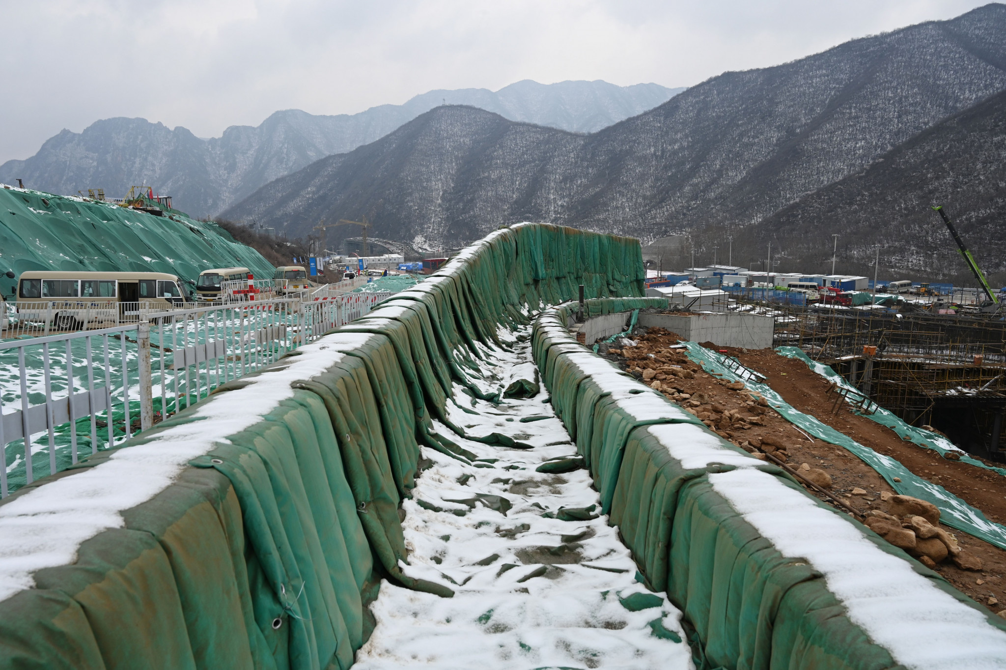 A sliding centre is being constructed ahead of the 2022 Winter Olympics in Beijing ©Getty Images