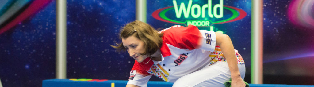 Scotland's Julie Forrest is through to the women's singles semi-finals at the World Indoor Bowls Championships ©World Bowls Tour