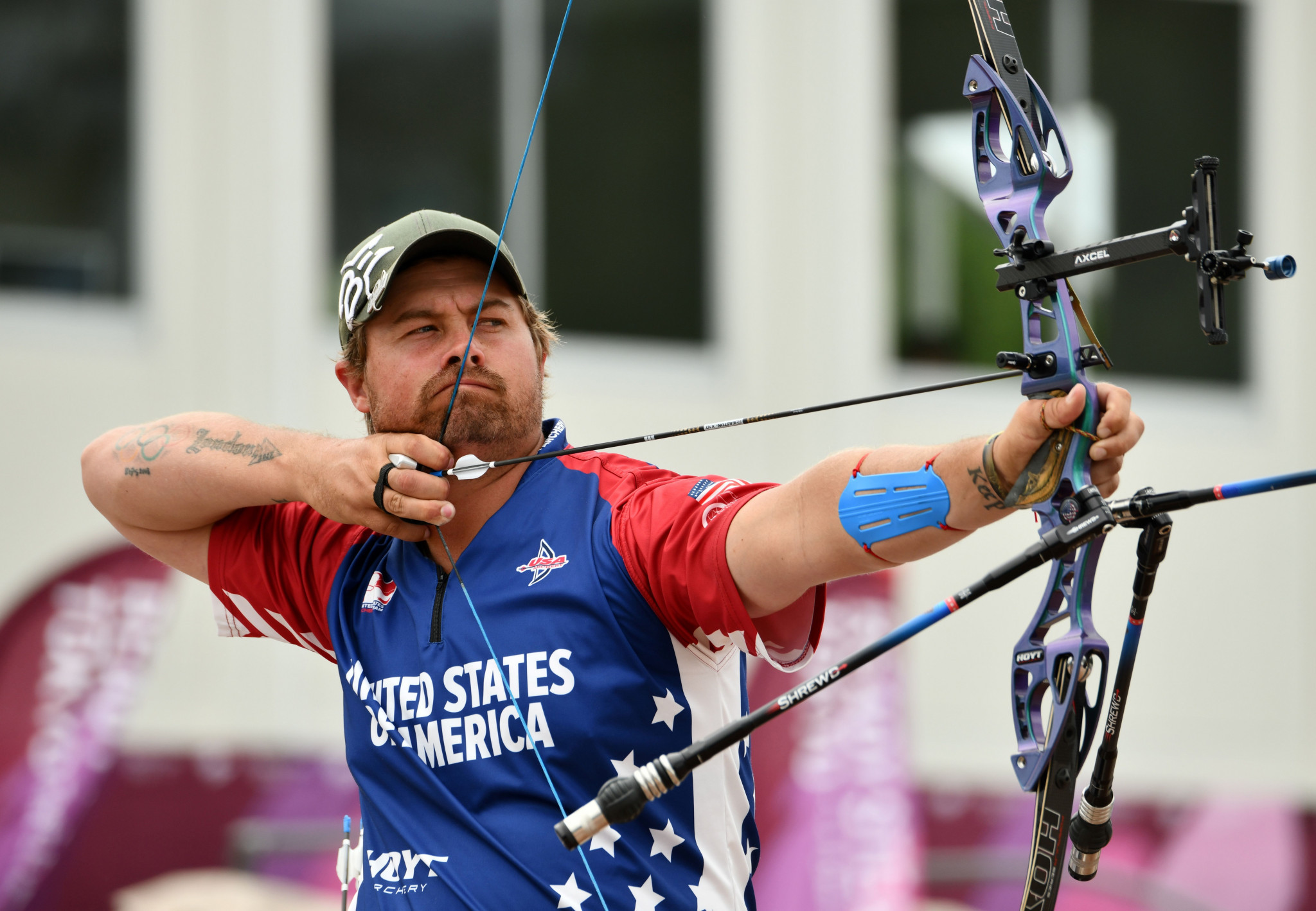 United States enjoy successful day at Indoor Archery World Series in Nîmes