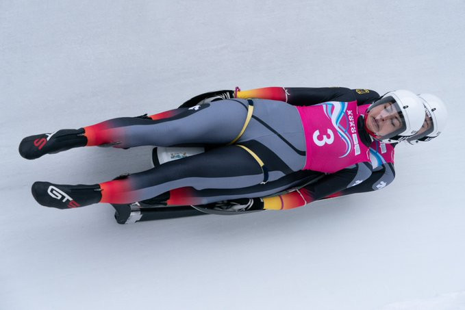 Germany won gold in the women's doubles luge event at St Moritz ©OISphoto