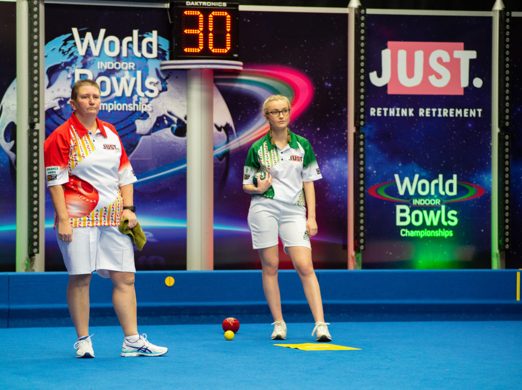 Guernsey's Alison Merrien proved too strong for England's Devon Cooper ©World Bowls Tour