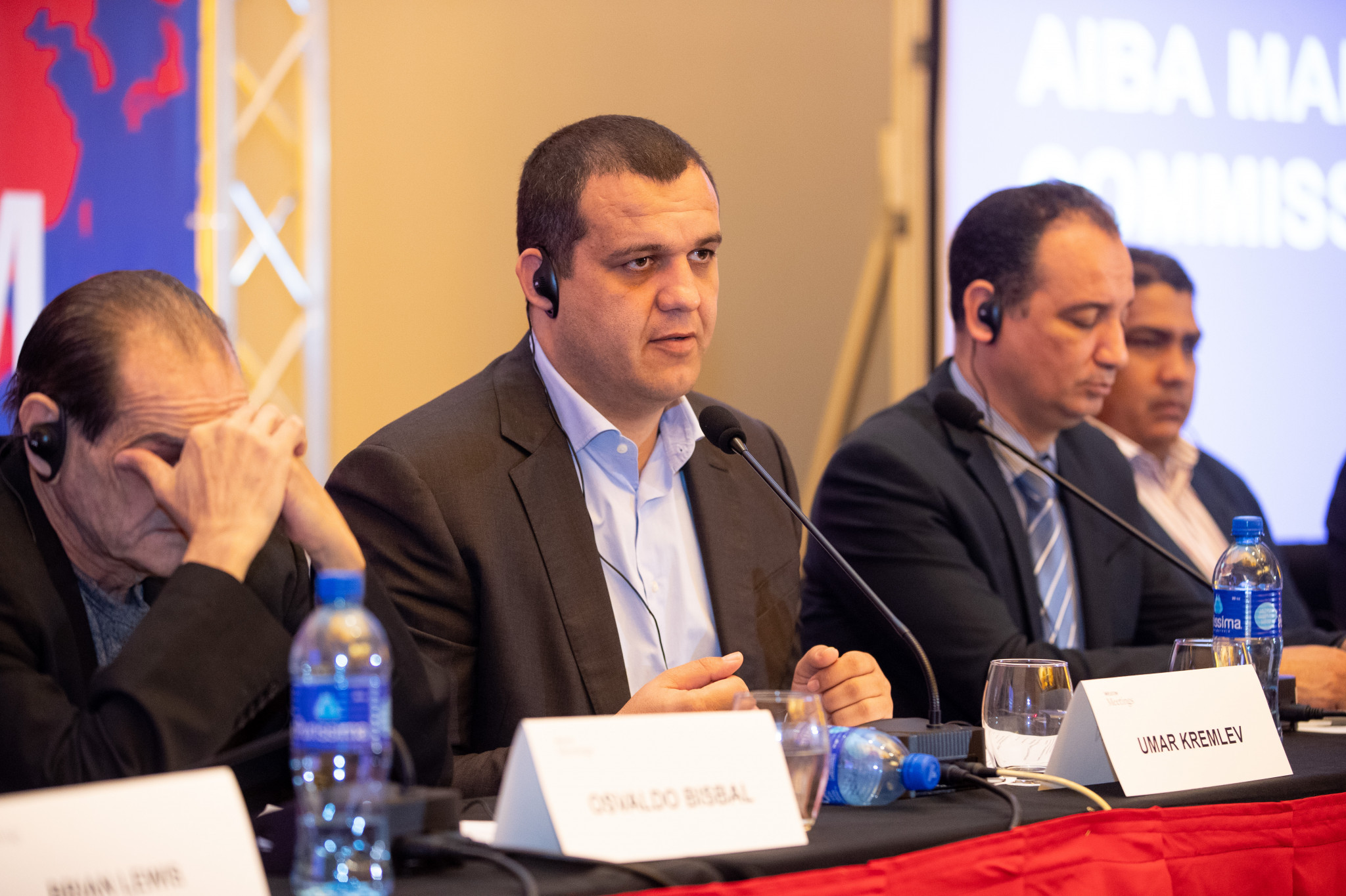 Umar Kremlev delivered a Marketing Commission progress report during today's Continental Forum ©AIBA