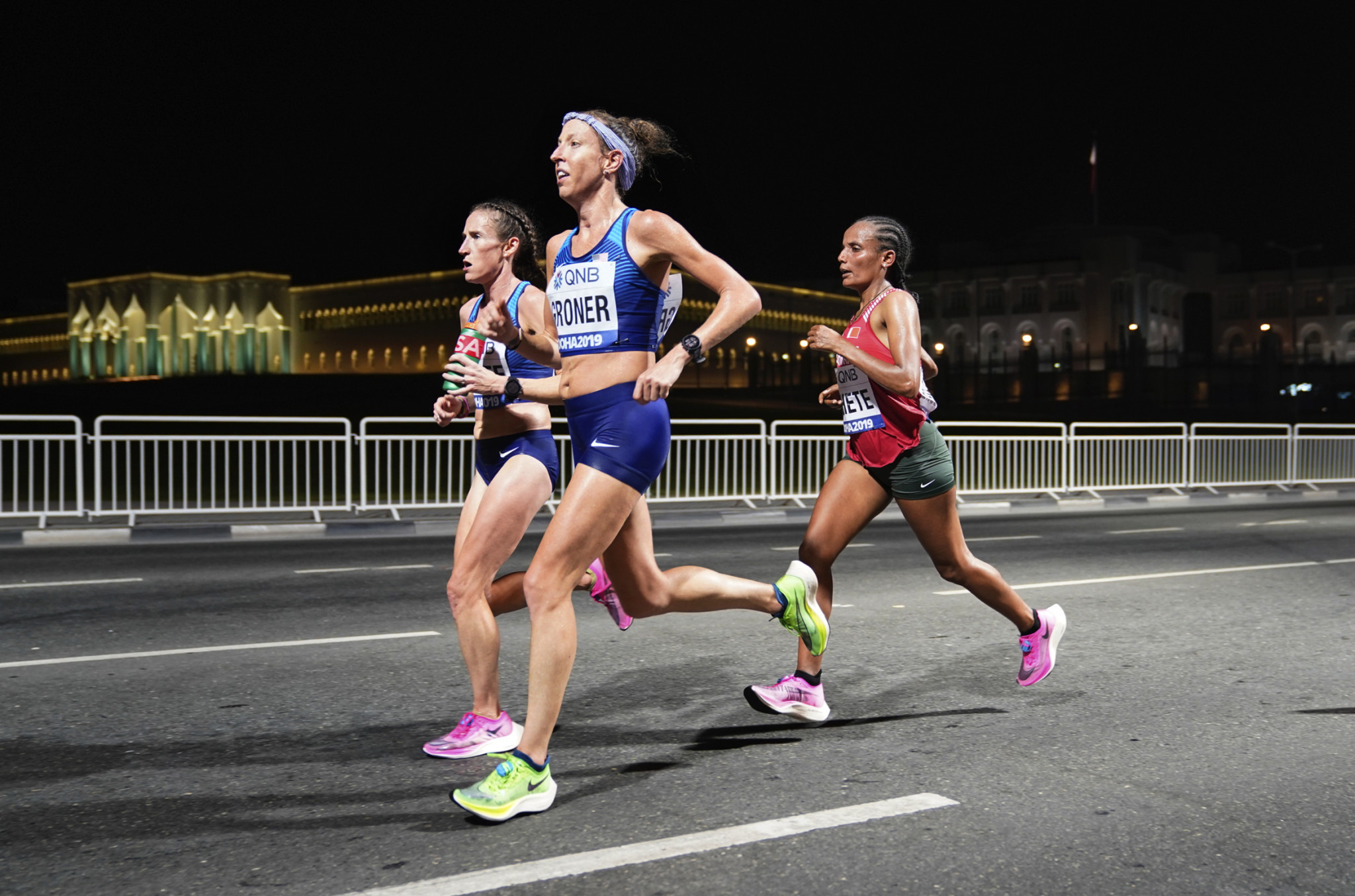 Of the 68 starters in the women's marathon run at midnight at last year's Doha World Championships, 28 failed to finish - but that may not have been solely down to conditions ©Getty Images
