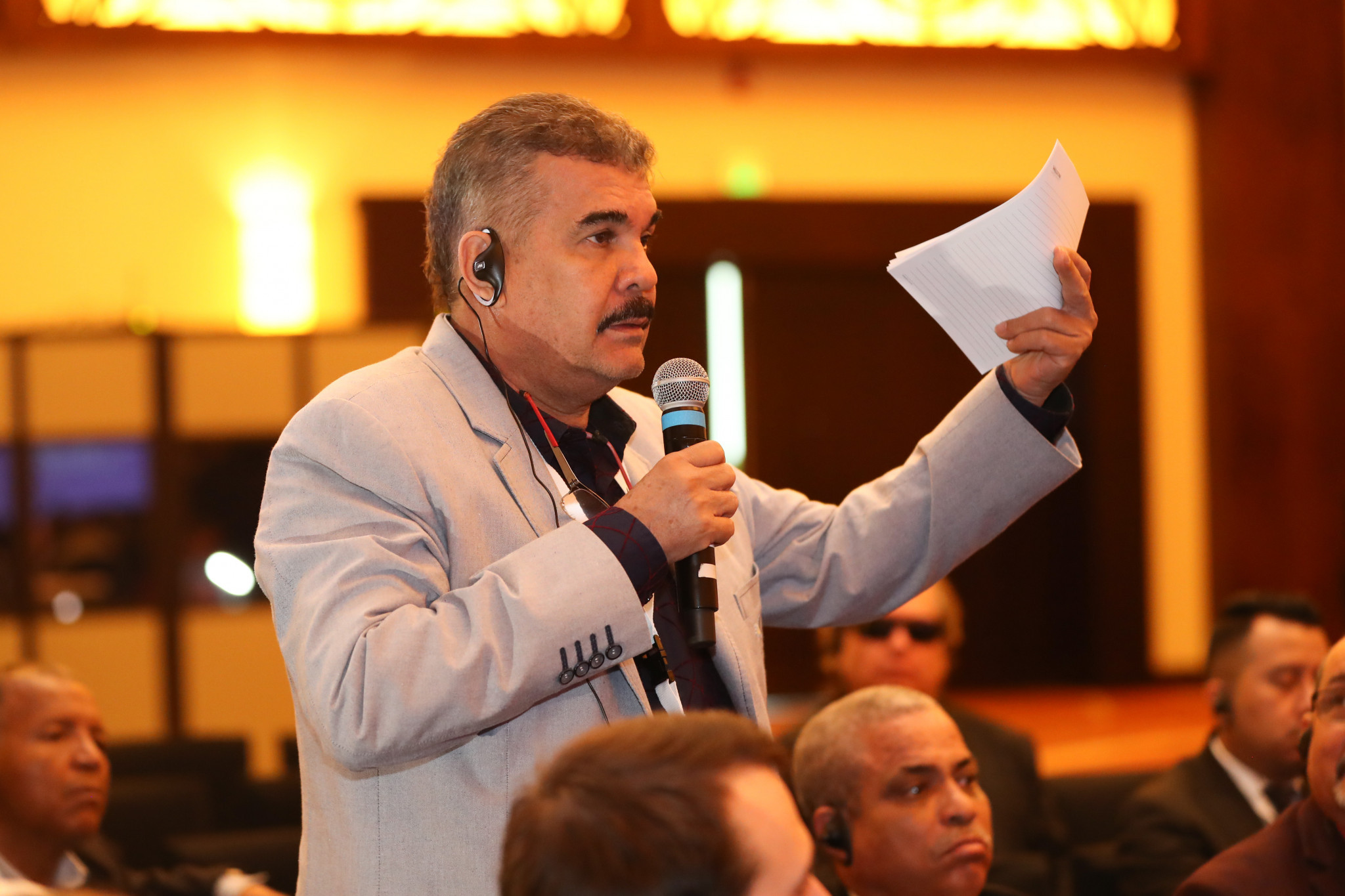 National Federations were also able to discuss issues with the panel ©AIBA