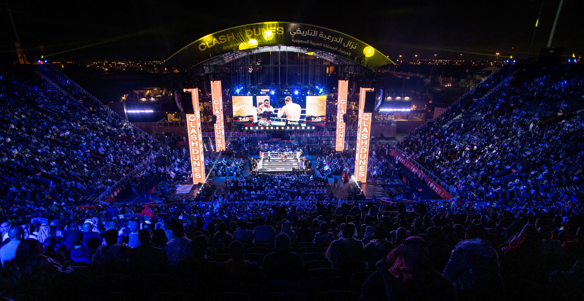 The heavyweight boxing showdown between Anthony Joshua and Andy Ruiz Jr shone a spotlight on Saudi Arabia ©Getty Images